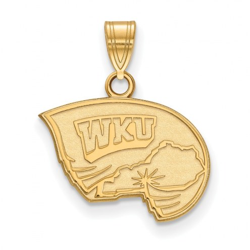 Western Kentucky Hilltoppers College Sterling Silver Gold Plated Small Pendant