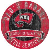 Western Kentucky Hilltoppers Dad's Garage Sign