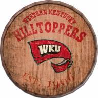 "Western Kentucky Hilltoppers Established Date 24"" Barrel Top"