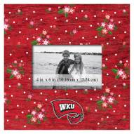 """Western Kentucky Hilltoppers Floral 10"""" x 10"""" Picture Frame"""