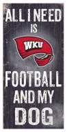 Western Kentucky Hilltoppers Football & My Dog Sign