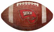 Western Kentucky Hilltoppers Football Shaped Sign