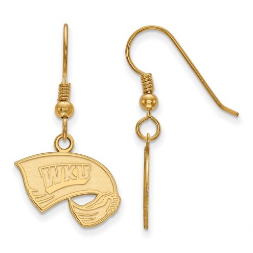 Western Kentucky Hilltoppers Sterling Silver Gold Plated Small Dangle Earrings