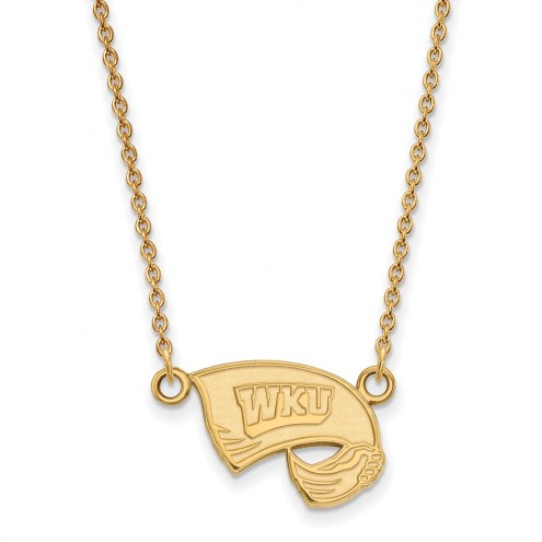 Western Kentucky Hilltoppers Sterling Silver Gold Plated Small Pendant Necklace