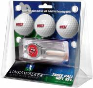 Western Kentucky Hilltoppers Golf Ball Gift Pack with Kool Tool