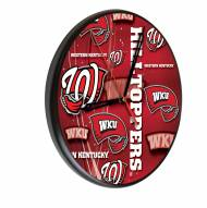 Western Kentucky Hilltoppers Digitally Printed Wood Clock