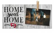 Western Kentucky Hilltoppers Home Sweet Home Clothespin Frame