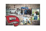 Western Kentucky Hilltoppers I Love My Family Clip Frame