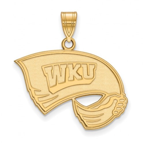 Western Kentucky Hilltoppers NCAA Sterling Silver Gold Plated Large Pendant