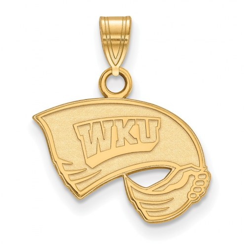 Western Kentucky Hilltoppers NCAA Sterling Silver Gold Plated Small Pendant