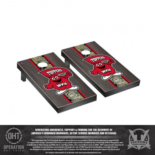 Western Kentucky Hilltoppers Operation Hat Trick Stained Cornhole Game Set