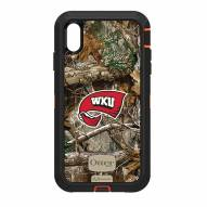 Western Kentucky Hilltoppers OtterBox iPhone XS Max Defender Realtree Camo Case