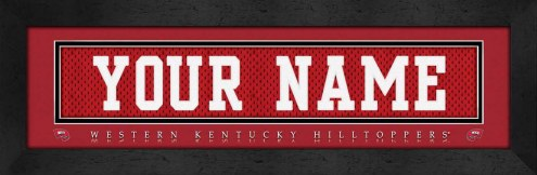 Western Kentucky Hilltoppers Personalized Stitched Jersey Print