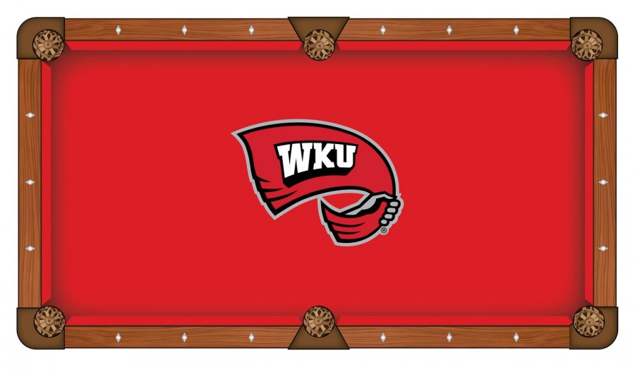 Western Kentucky Hilltoppers Pool Table Cloth - Western pool table