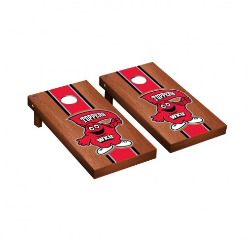 Western Kentucky Hilltoppers Rosewood Stained Cornhole Game Set