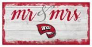 Western Kentucky Hilltoppers Script Mr. & Mrs. Sign