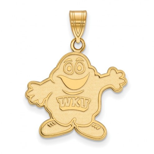 Western Kentucky Hilltoppers Sterling Silver Gold Plated Large Pendant