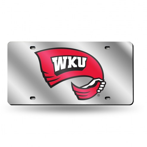Western Kentucky Hilltoppers Silver Laser License Plate