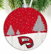 Western Kentucky Hilltoppers Snow Scene Ornament