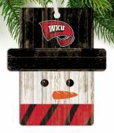 Western Kentucky Hilltoppers Snowman Ornament