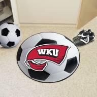 Western Kentucky Hilltoppers Soccer Ball Mat