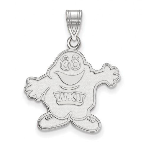 Western Kentucky Hilltoppers Sterling Silver Large Pendant
