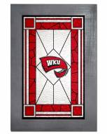 Western Kentucky Hilltoppers Stained Glass with Frame