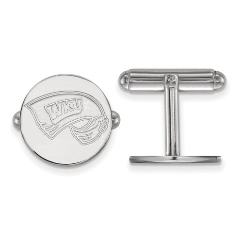 Western Kentucky Hilltoppers Sterling Silver Cuff Links