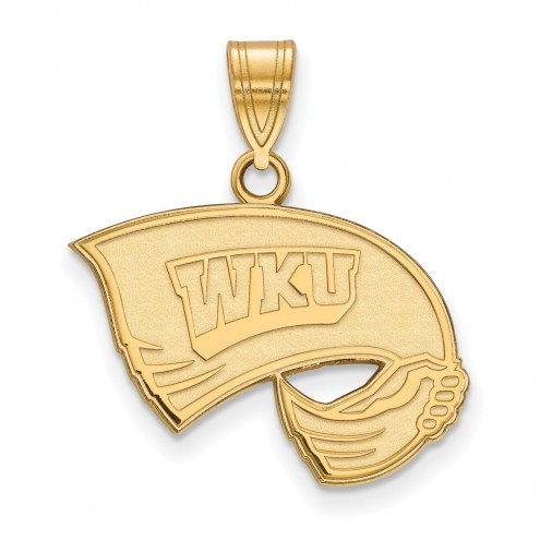Western Kentucky Hilltoppers Sterling Silver Gold Plated Medium Pendant