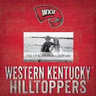 """Western Kentucky Hilltoppers Team Name 10"""" x 10"""" Picture Frame"""