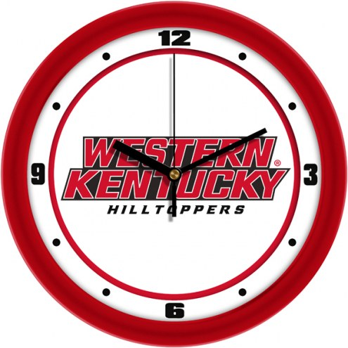 Western Kentucky Hilltoppers Traditional Wall Clock