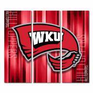 Western Kentucky Hilltoppers Triptych Rush Canvas Wall Art