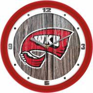 Western Kentucky Hilltoppers Weathered Wood Wall Clock