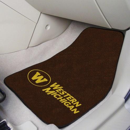 Western Michigan Broncos 2-Piece Carpet Car Mats