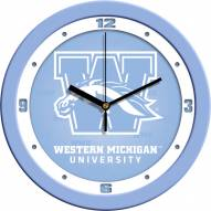 Western Michigan Broncos Baby Blue Wall Clock