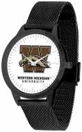 Western Michigan Broncos Black Mesh Statement Watch