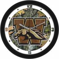 Western Michigan Broncos Camo Wall Clock