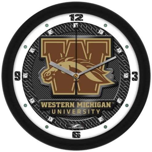 Western Michigan Broncos Carbon Fiber Wall Clock
