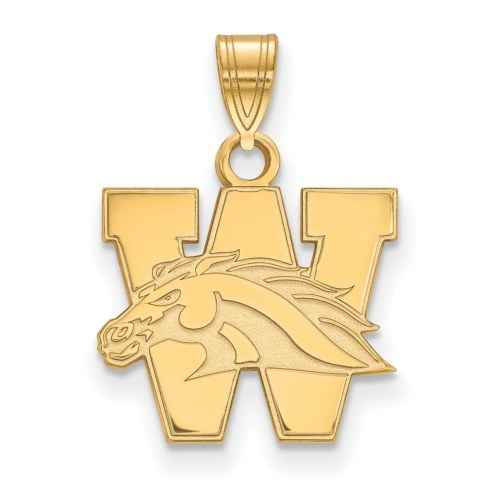 Western Michigan Broncos College Sterling Silver Gold Plated Small Pendant