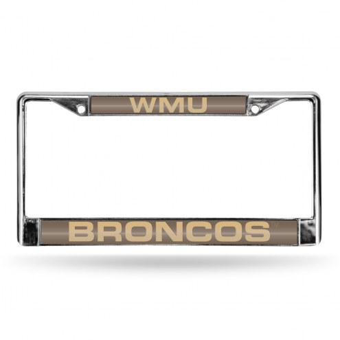 Western Michigan Broncos College Laser Chrome License Plate Frame