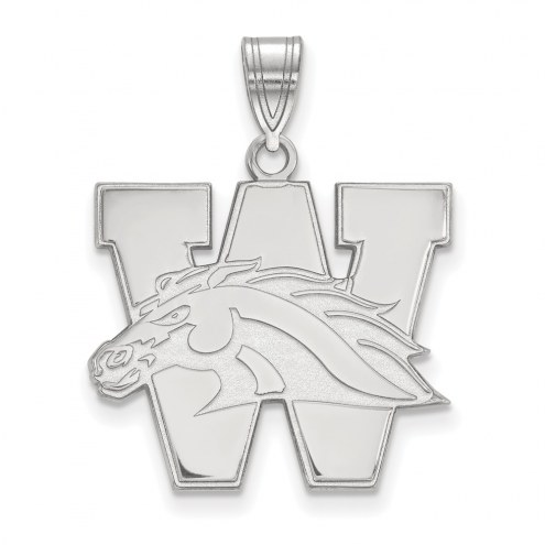 Western Michigan Broncos Sterling Silver Large Pendant