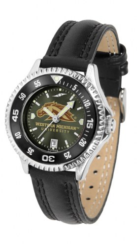 Western Michigan Broncos Competitor AnoChrome Women's Watch - Color Bezel