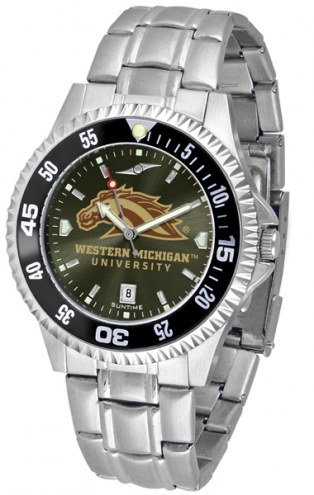 Western Michigan Broncos Competitor Steel AnoChrome Color Bezel Men's Watch