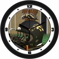 Western Michigan Broncos Football Helmet Wall Clock