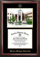 Western Michigan Broncos Gold Embossed Diploma Frame with Lithograph