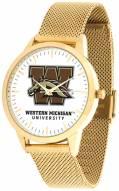 Western Michigan Broncos Gold Mesh Statement Watch