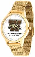 Western Michigan Broncos Gold Mesh Statement Watch