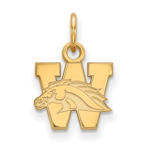 Western Michigan Broncos Sterling Silver Gold Plated Extra Small Pendant