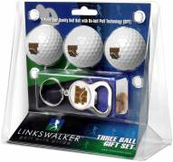 Western Michigan Broncos Golf Ball Gift Pack with Key Chain