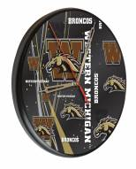 Western Michigan Broncos Digitally Printed Wood Clock